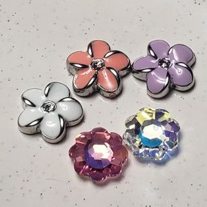Origami Owl Flower charms